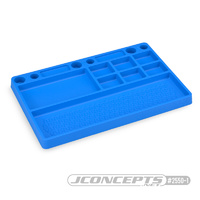 Jconcepts Rubber Parts Tray- Blue