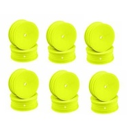 CH-Race-Control Jconcepts Mono 12mm Hex Front Wheel Yellow 4pce Fits B6.1, Bulk pack 12pcs