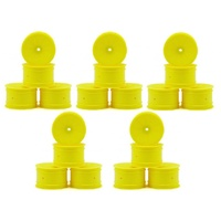 CH-Race-Control Jconcepts Mono 12mm Hex Rear Wheel yellow 4pce fits B6.1, Bulk pack 20pcs