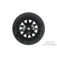 "Proline F-11 2.2""/3.0"" Black Wheels for short course truck 2pcs"