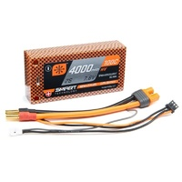 Spektrum 4000mAh 2S 7.6V 100C Smart HV LiPo Short 5mm Tubes