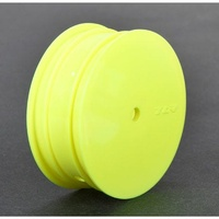 TLR Front Wheel, 12mm Hex, Yellow (2): 22 3.0